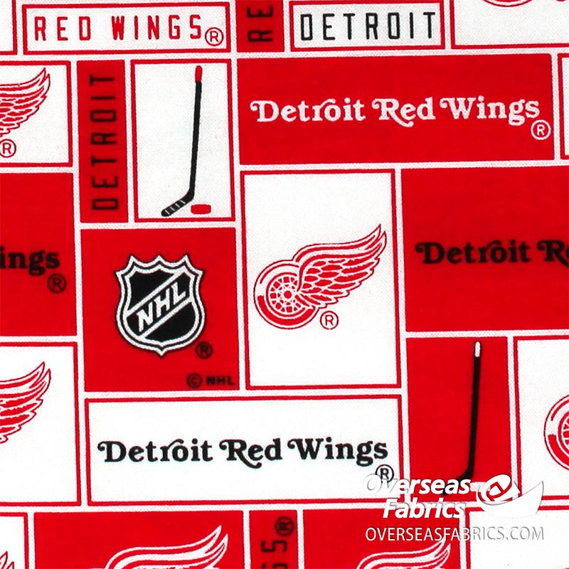 NHL Quilting Cotton - Detroit Red Wings, Red 840