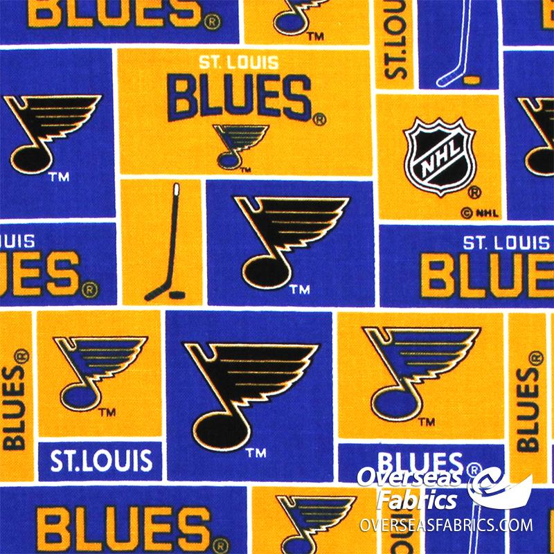 NHL Quilting Cotton - St Louis Blues, Yellow 840
