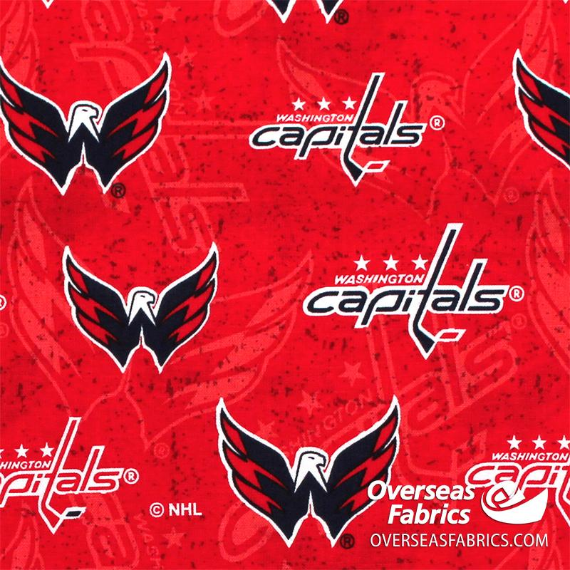 NHL Quilting Cotton - Washington Capitals, Red