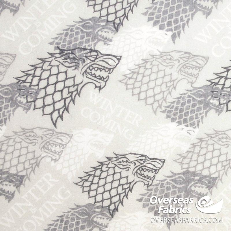 Springs Creative - Game Of Thrones, Winter Is Coming, Grey
