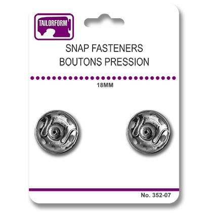 Tailorform - Snap Fasteners, Silver, 18mm