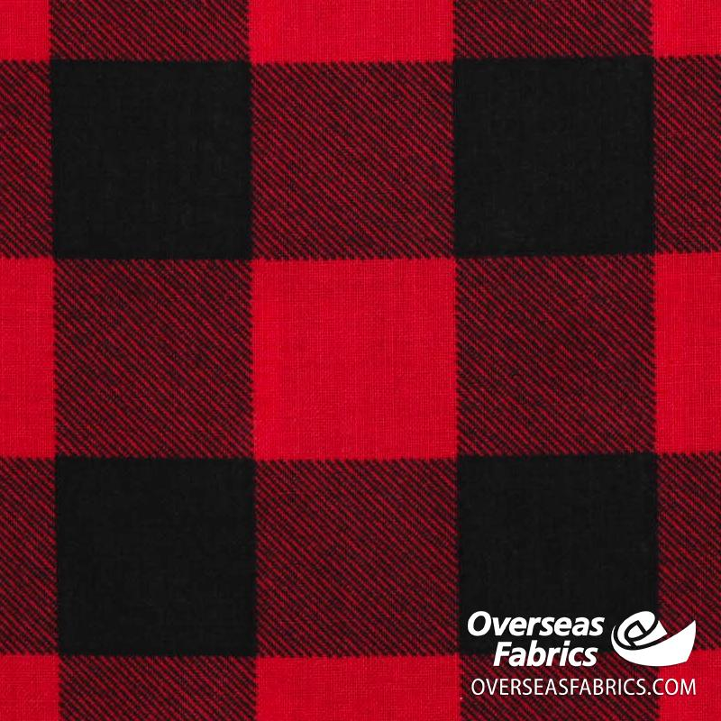 Windham Fabrics - 108 Quilt Backing, Buffalo Plaid, Red