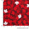 Windham Fabrics - Canadian Christmas, Maple Leaves, Red