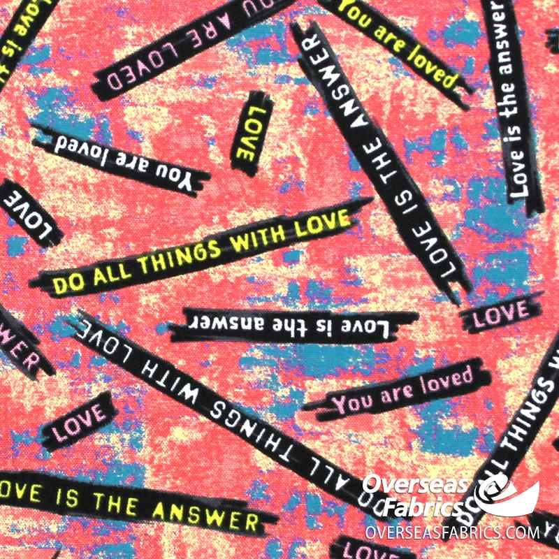 Windham Fabrics - Unstoppable, Love is the Answer, Pink
