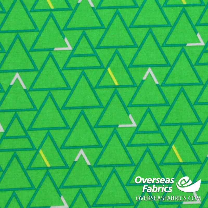 Windham Fabrics - Good Vibes Only, Triangles, Green