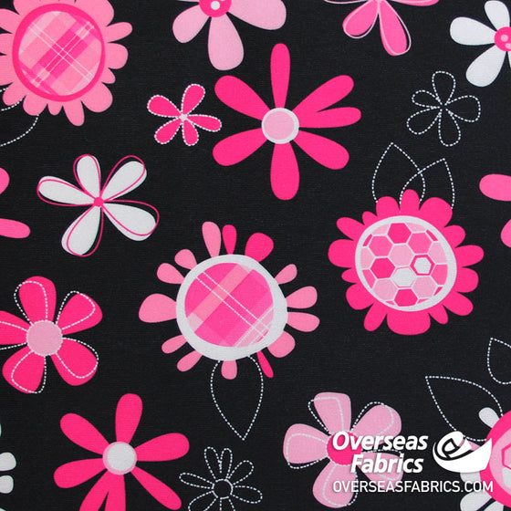 "Babyville PUL Waterproof Fabric 60"" - Pink Floral"