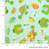 "Babyville PUL Waterproof Fabric 60"" - Turtles & Frogs"