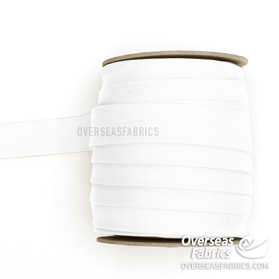 "Double-fold Bias Tape 25mm (1"") - 001 White"