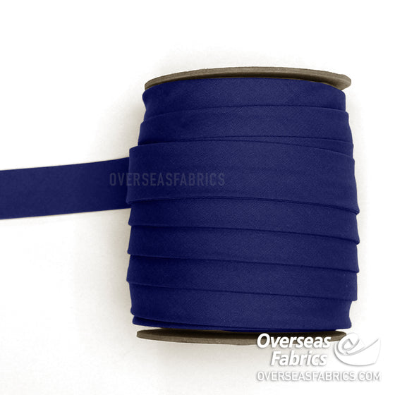 "Double-fold Bias Tape 25mm (1"") - Navy Blue"