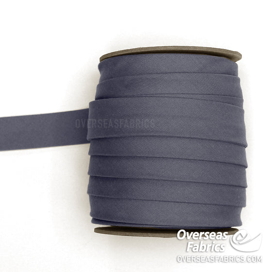 "Double-fold Bias Tape 25mm (1"") - 020 Dark Grey"