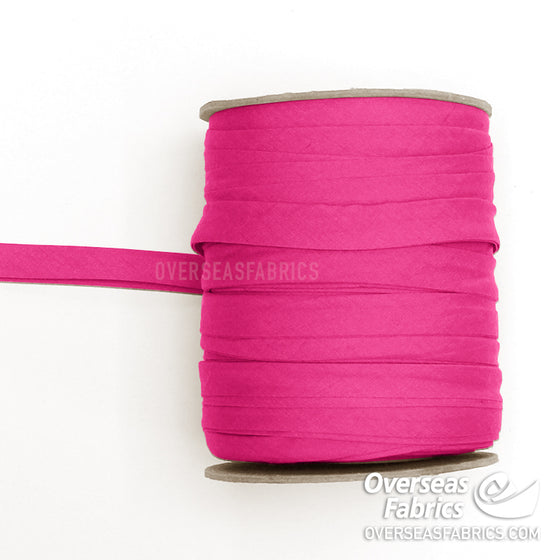 "Double-fold Bias Tape 13mm (1/2"") - 006 Hot Pink"