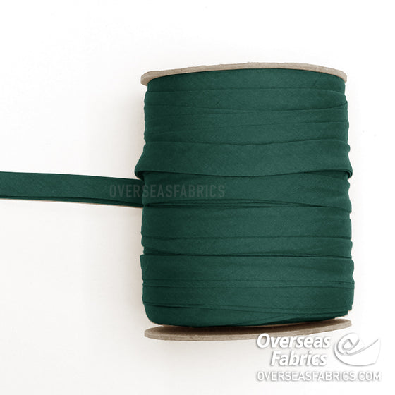 "Double-fold Bias Tape 13mm (1/2"") - Hunter Green"