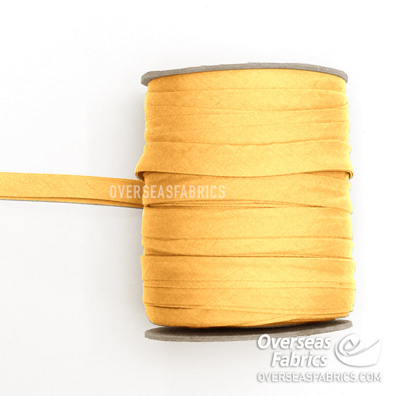 "Double-fold Bias Tape 13mm (1/2"") - Bright Yellow"