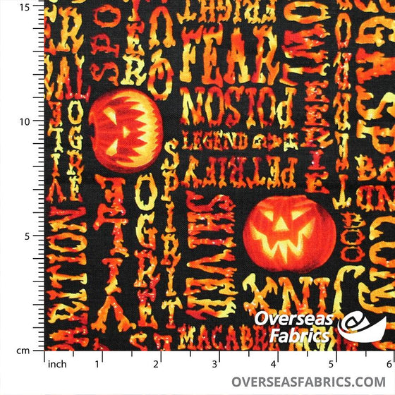 Blank Quilting - Fright Night, Halloween Words