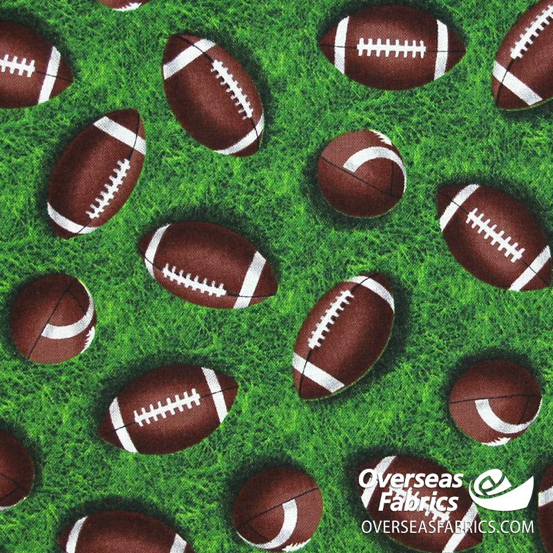 Blank Quilting - Love of the Game, Football, Green