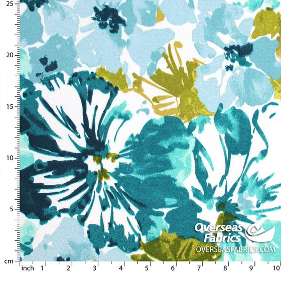 "Bryant Outdoor Fabric 54"" - Summer Garden, Mallard"