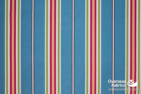 "Bryant Outdoor Fabric 54"" - Lancaster Stripe, Blue"