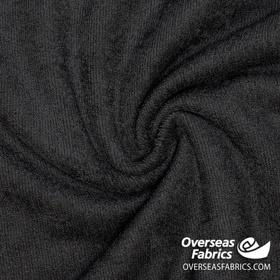 "Cotton Terry Towel 60"" - Black"