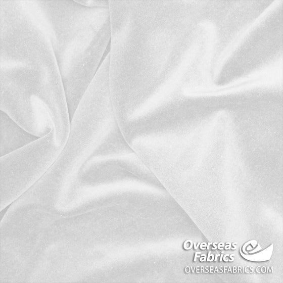 "Cotton Velveteen 45"" - White"