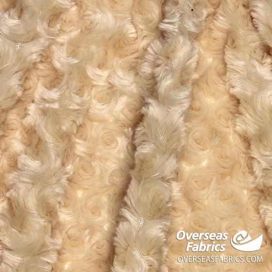 "Rose Cuddle Minky Fleece 60"" - Camel (Light Brown)"