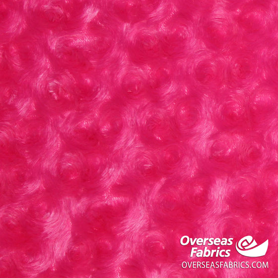 "Rose Cuddle Minky Fleece 60"" - Hot Pink"