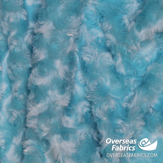 "Rose Cuddle Minky Fleece 60"" - Turquoise"