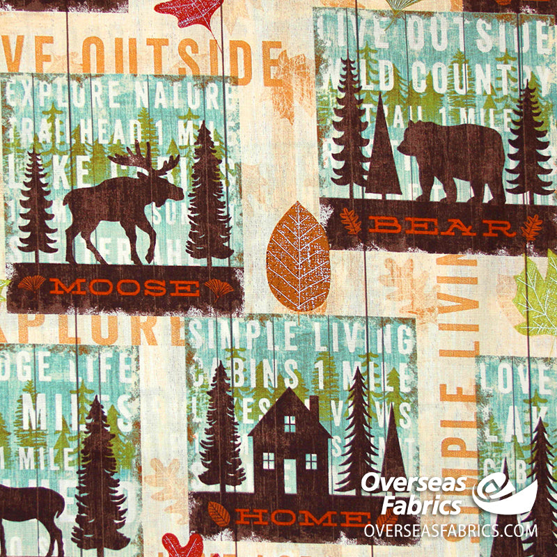 David Textiles - Mountain Pines & Lodge