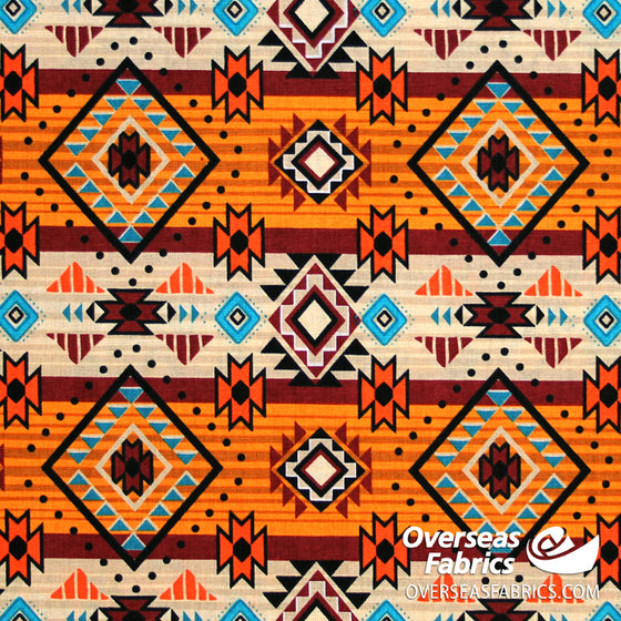 David Textiles - Tribal Tradition, Native Diamonds, Cream