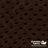 "Dot Minky Fleece 60"" - Chocolate Brown"