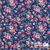 "Dress Cotton 60"" - June 2020 Collection, Design 9 - Floral Bouquets, Blue"