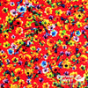 "Dress Rayon 60"" - June 2020 Collection; Design 02 - Floral Explosion, Red"