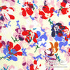 "Dress Rayon 60"" - June 2020 Collection; Design 04 - Floral Pop-Art, Cream"