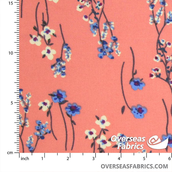 "Dress Rayon 60"" - June 2020 Collection; Design 09 - Baby's Breath, Peach"