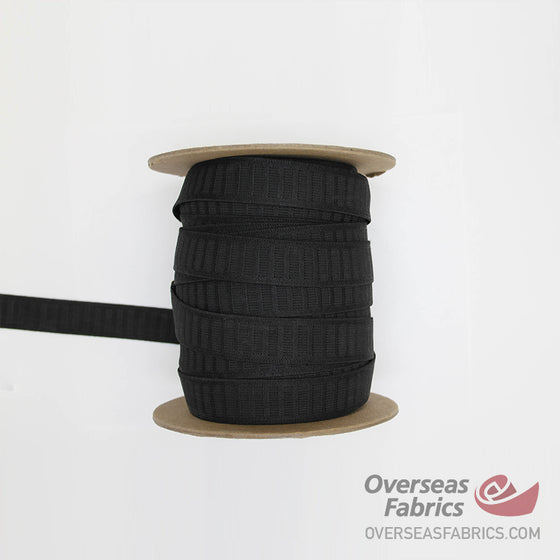 "Non-Roll Elastic - Black, 25mm (1"")"