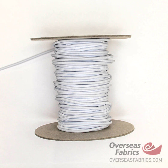 "Round Elastic - White, 2.5mm (1/12"")"