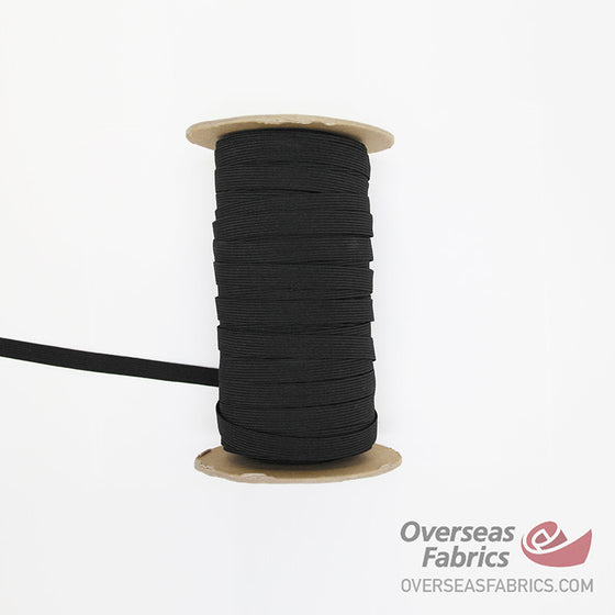 "Braided Elastic - Black, 13mm (1/2"")"