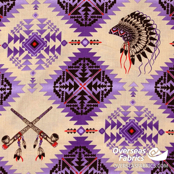 Elizabeth's Studio - Native Spirit, Headdress, Purple
