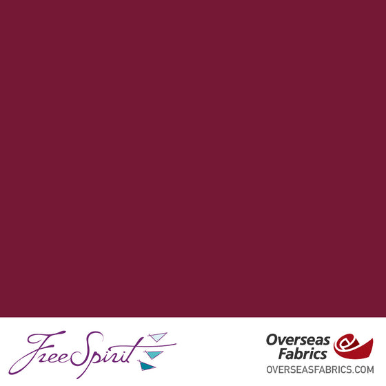"FreeSpirit Designer Essentials Cotton Solids 45"" - Cherry - CHERR"