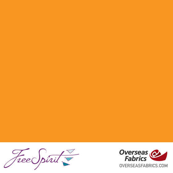"FreeSpirit Designer Essentials Cotton Solids 45"" - Orange - ORANG"