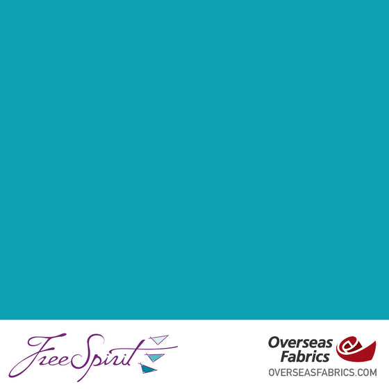 "FreeSpirit Designer Essentials Cotton Solids 45"" - Parrot Blue - PARBL"