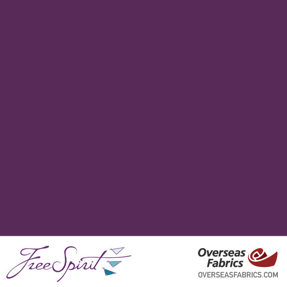 "FreeSpirit Designer Essentials Cotton Solids 45"" - Plum - PLUMX"