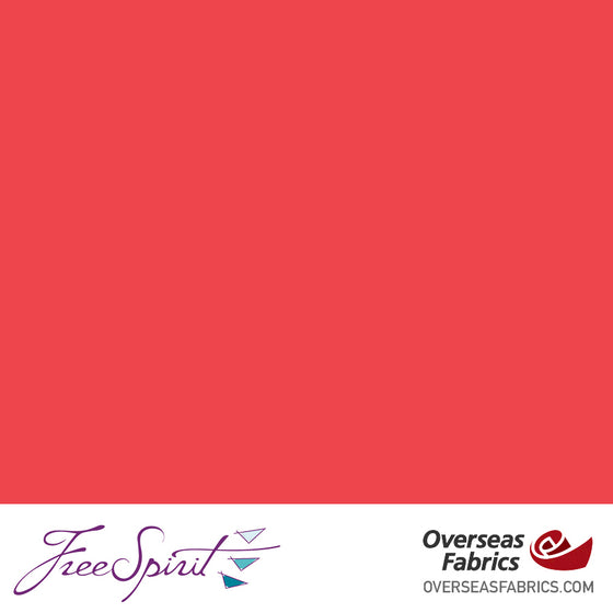 "FreeSpirit Designer Essentials Cotton Solids 45"" - Red - REDXX"