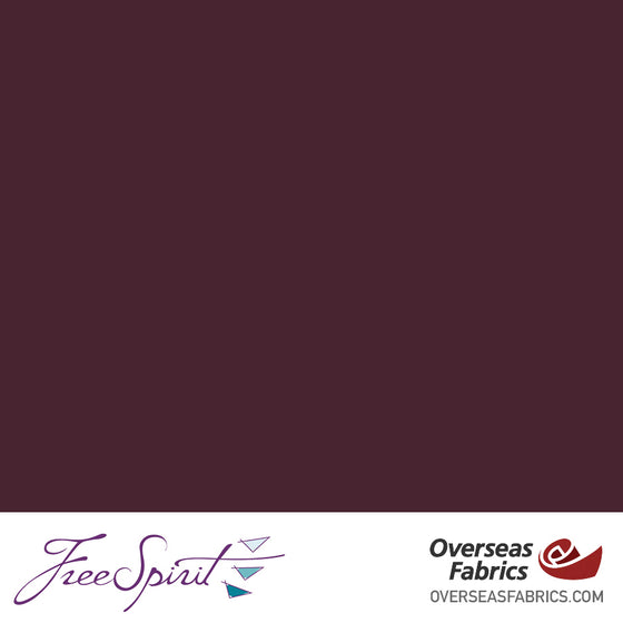 "FreeSpirit Designer Essentials Cotton Solids 45"" - Vino - VINOX"