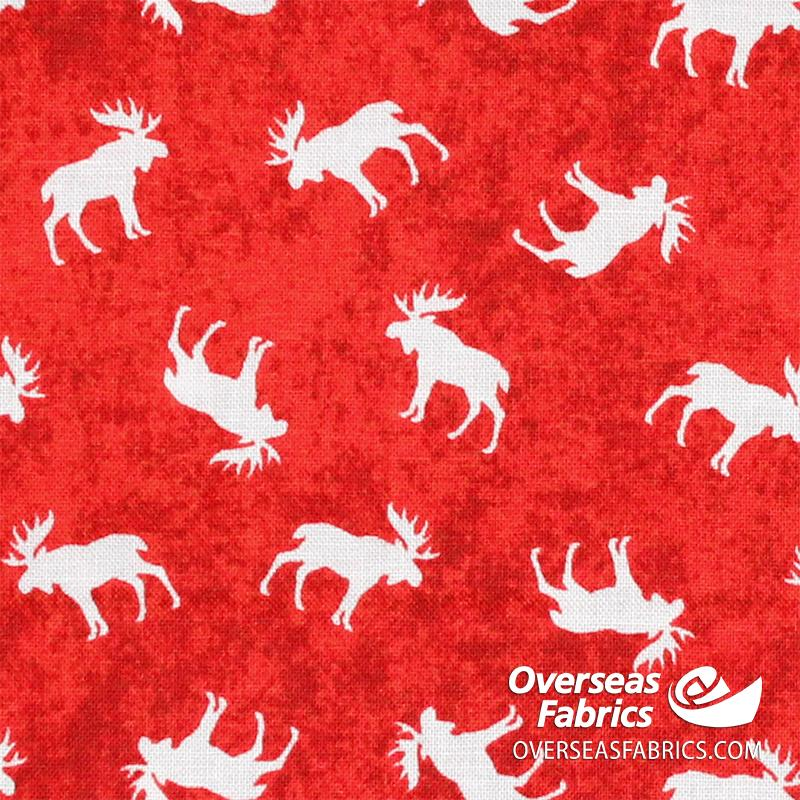 Canadiana Quilting Cotton - Canada Moose, Red