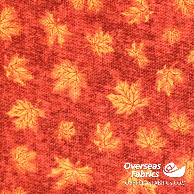 Canadiana Quilting Cotton - Maple Leaf, Red