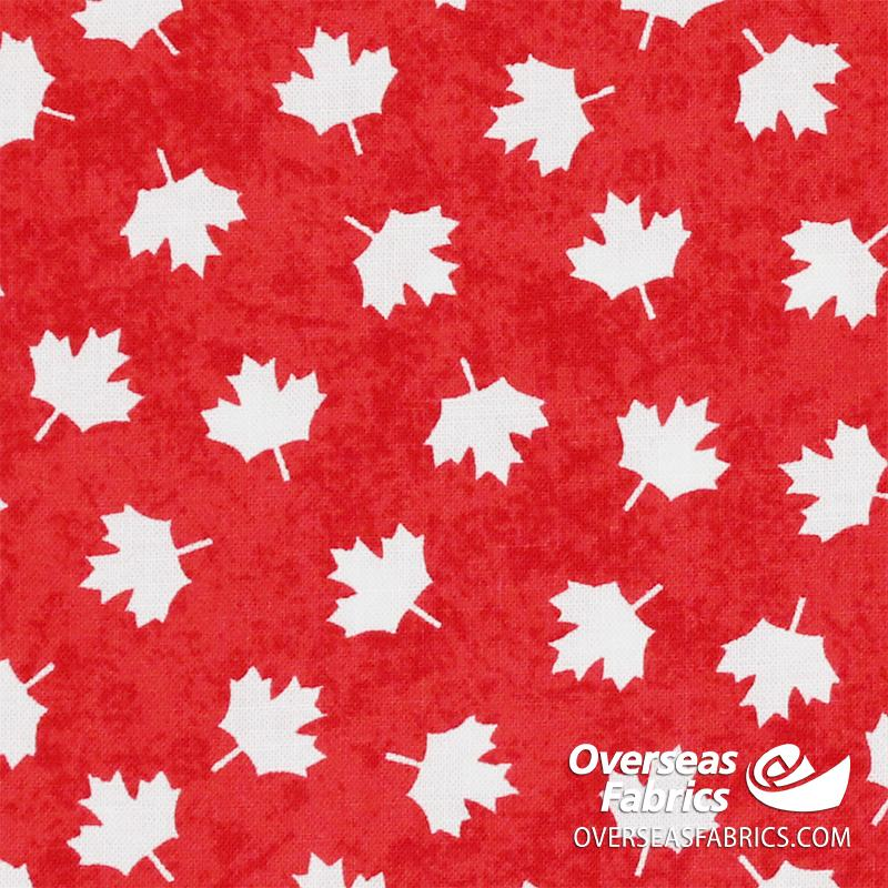 Canadiana Quilting Cotton - Oh Canada, Red