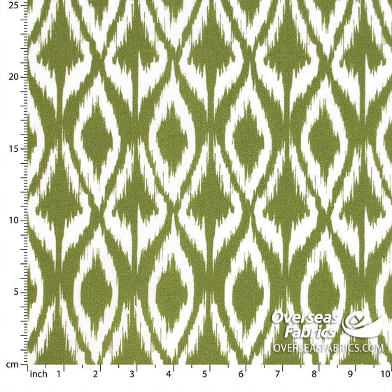 "Bryant Outdoor Fabric 54"" - Floral Lattice, Grass"