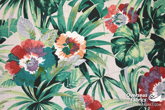 "Bryant Outdoor Fabric 54"" - Palms, Green"