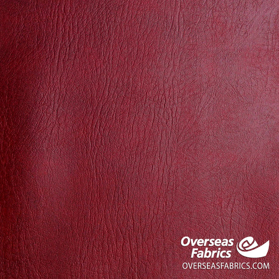 "Heavy Vinyl Leather 56"" - Burgundy"