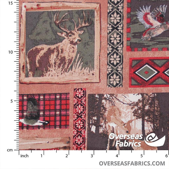 Joann Fabrics - Bear and Deer, Collage